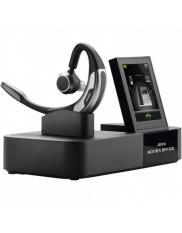 Jabra motion office monteret i sin stander.