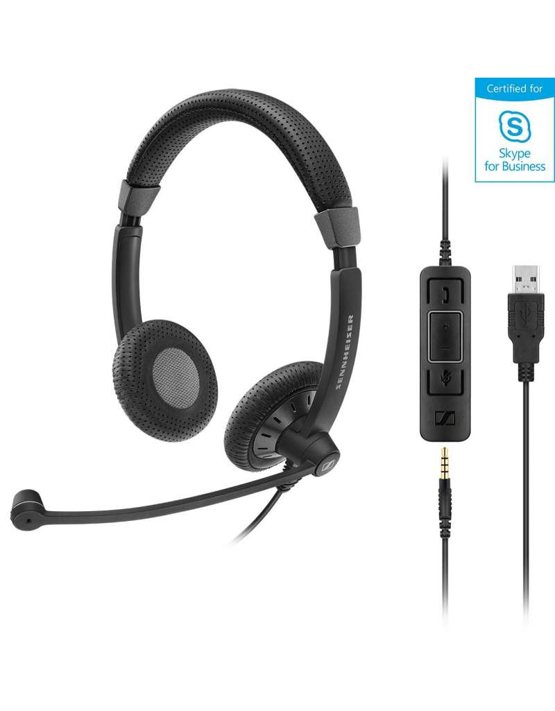 Sennheiser SC 75 USB MS til mobil og PC/Softphone, Skype for Business certificeret